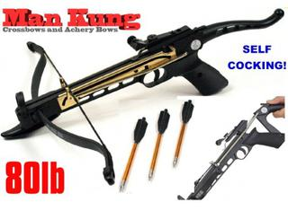 80lb Self Cocking Pistol CrossBow By Man Kung