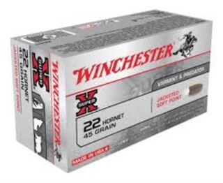 Winchester SuperX 22 Hornet  45gr Soft Point