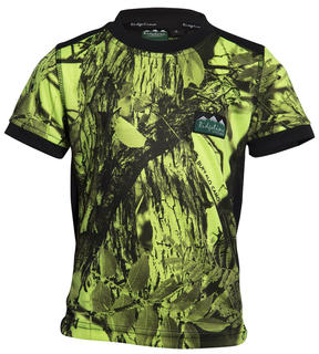 Ridgeline Kids Breeze Tee - Yellow Camo