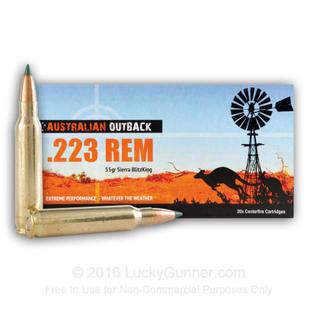 Australian Outback 223REM 55gr Sierra Blitzking