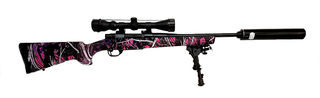 Howa Mod 1500 223 Muddy Girl Camo with Scope | Bi Pod | Supressor