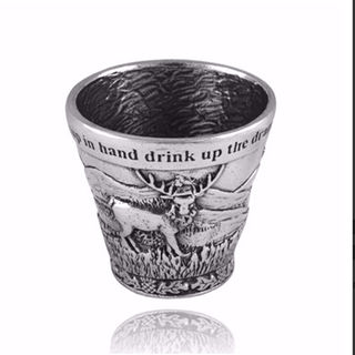 A E Williams Pewter Highland Scene Dram Cup