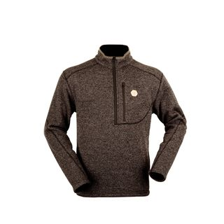 Hunters Element Clarence Knit LS Zip Top - Walnut