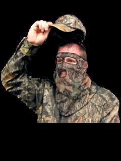 Primos Ninja Mesh Face 3/4 Mask Mossy Oak