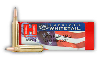 Hornady American Whitetail 7mm Rem Mag Interlock