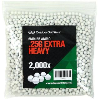 6mm Outdoor Outfitters .25g x2000 Extra Heavy BBs