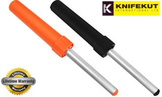 Knifekut 4″ Diamond Switch Steel Sharpener Fluoro Orange Or Black