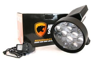 Night Saber 3500 lumen 150mm LED Rechargeable Spotlight