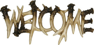 Rivers Edge - Deer Antler Welcome Plaque