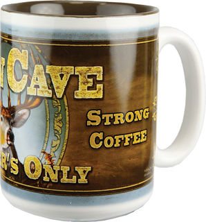 Rivers Edge - 16 Oz. Deer Man Cave Mug
