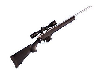Howa Mini Action 223 Stainless Steel Threaded + Panamax 3-9x40