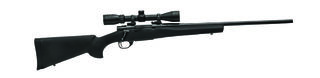 Howa Mod 1500 Blued Black Hogue Stock with Scope