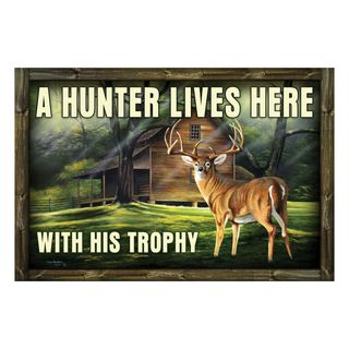 Rivers Edge Door Mat Rubber 26in x 17in - Hunter Trophy