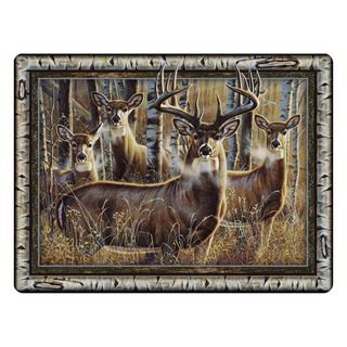 Rivers Edge - Tampered Glass Cutting Board 12in x 16in Multi Deer