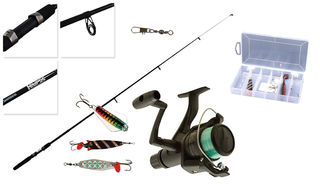 Trout Fishing Combo Kit - Shimano Eclipse Tele 66 3-4KG & IX2000R w/ Assorted Lures