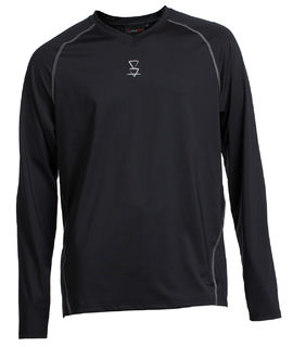 Lonely Track Headland Thermal Long Sleeve Top - Black