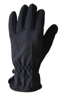 Gloves Fleece Softshell - Black