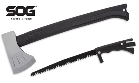 SOG Badaxe Backcountry Axe & Saw Combo SALE