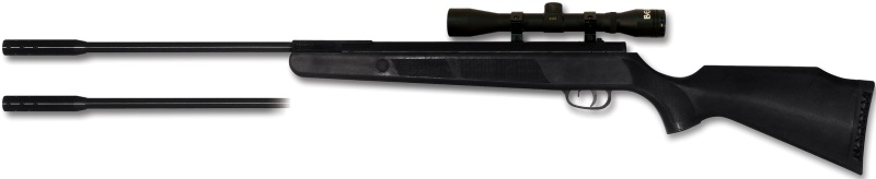 Beeman Kodiak X2 DC AW Air Rifle with 4x32 Scope and 2x Interchangeable Barrels - .177 & .22 Caliber