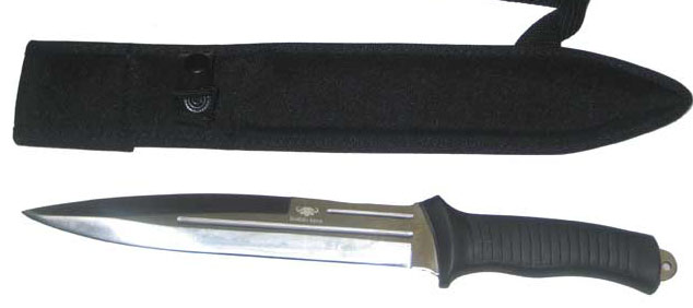 Buffalo River Pig Sticking Knife with Rubber handle (Sheath included)