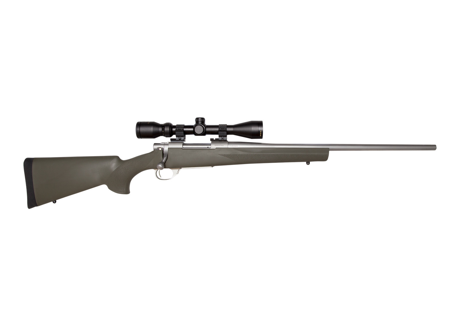 Howa Model 1500 Stainless Green Hogue Rifle with Scope