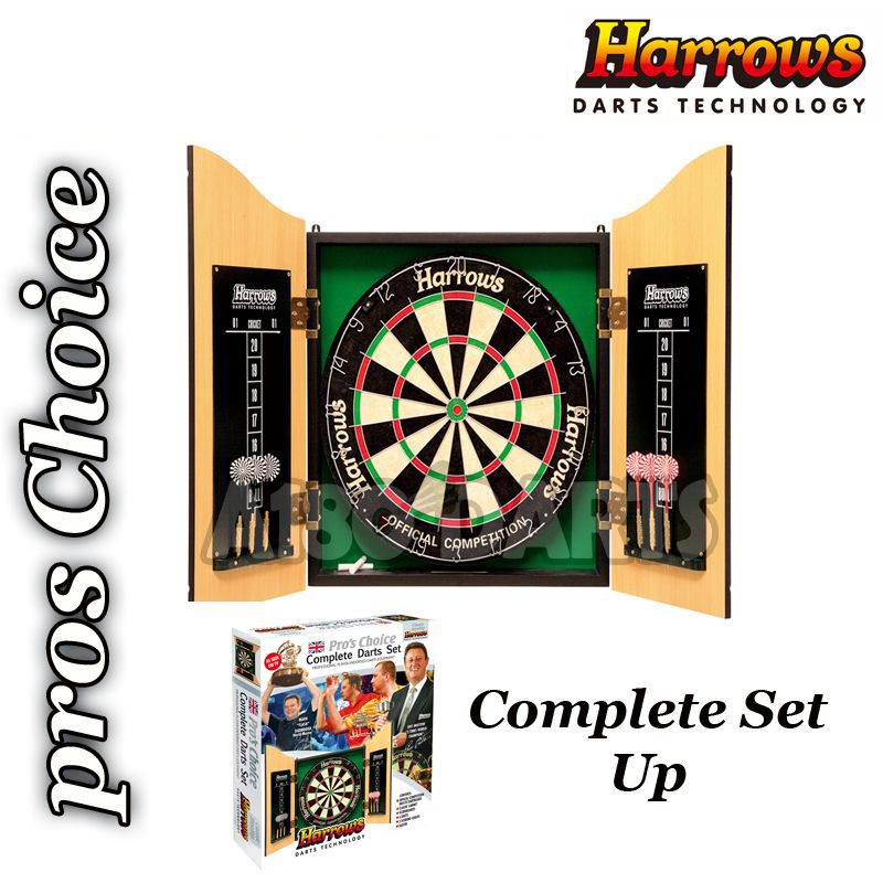 Harrows Pros Choice Dartboard/Cabinet Combo