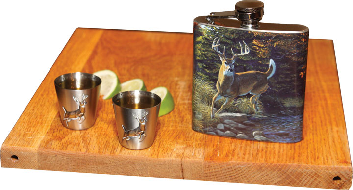 Rivers Edge Deer 7 oz. Flask/Shot Glass