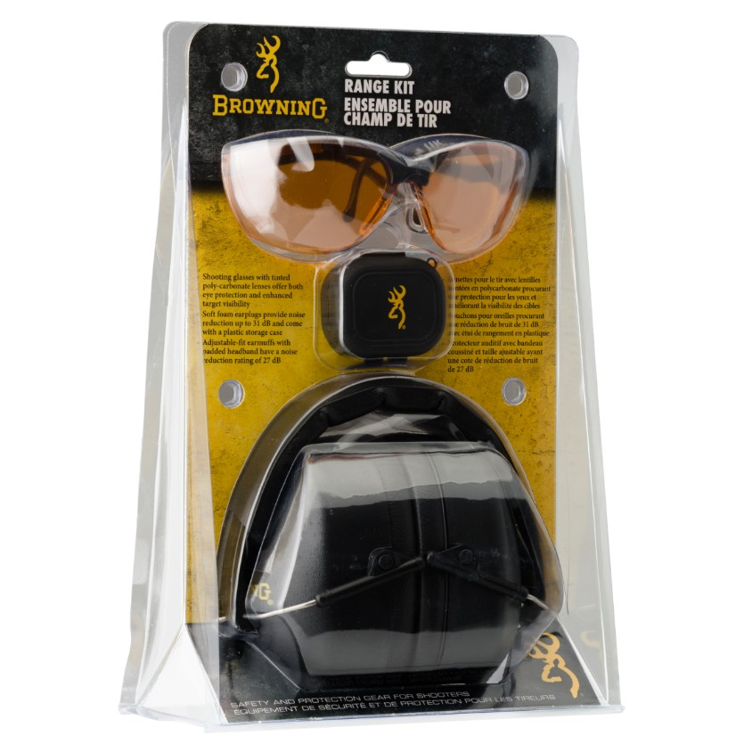 Browning Range Kit - Muffs Glasses Ear Plugs