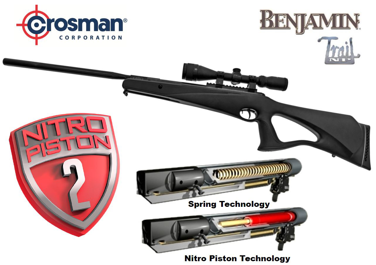Crosman® Benjamin Trail .22 with Scope – 1100fps NITRO PISTON 2