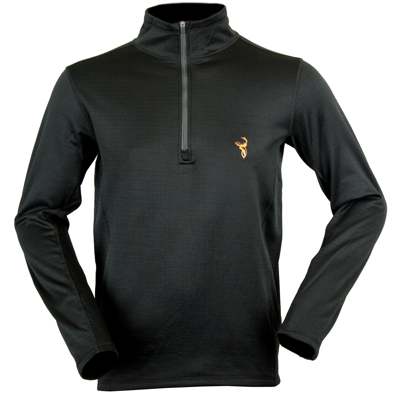 Hunters Element Titanium LS Zip Top - Black