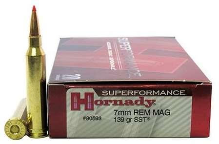 Hornady Superformance 7mm Rem Mag 139gr SST