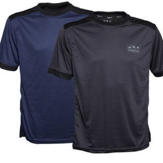 Ridgeline Mens Breeze Tee - Navy / Charcoal