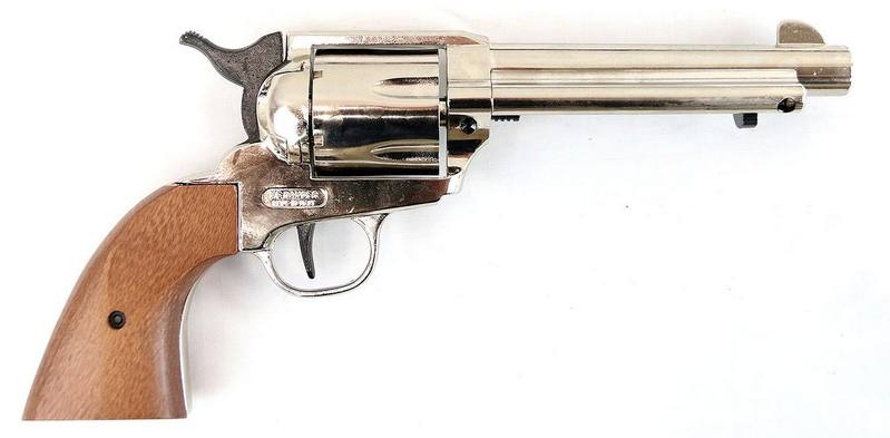 Bruni .380 Peacemaker Nickel Blank Revolver