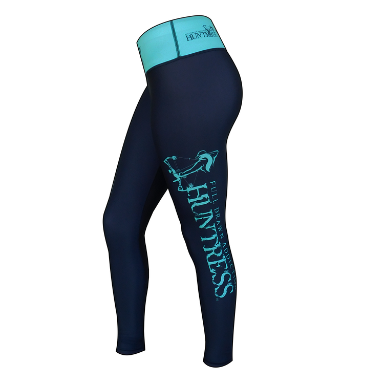 FDA Huntress Logo Legging - Turquoise