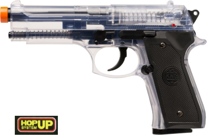 KWC Beretta 92FS Air Pistol, Airsoft Hop Up - Clear