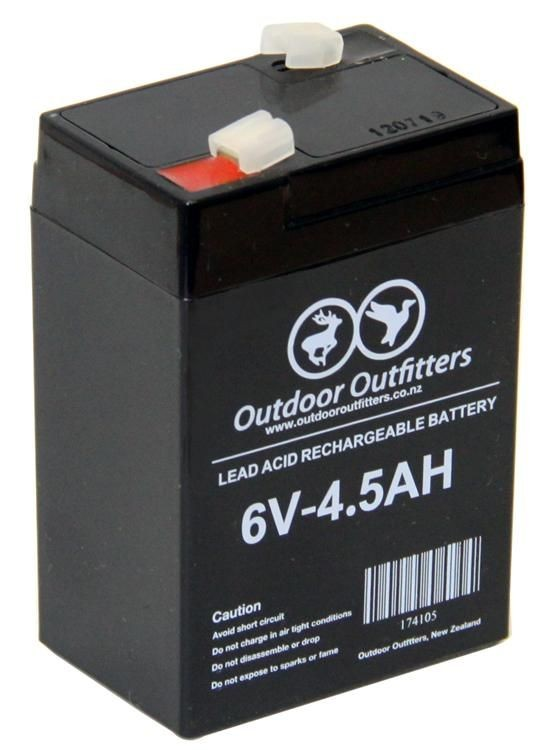 Outdoor Outfitters Battery 6V 4.5AH Rechargeable