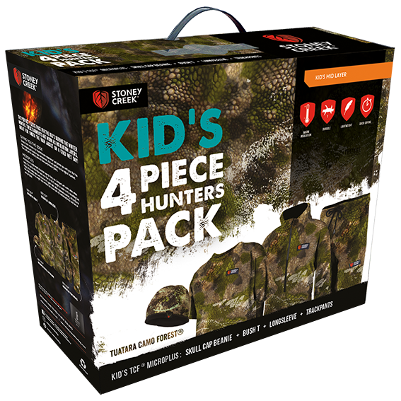 Stoney Creek Kids 4 Piece Hunters Pack - Tuatara Forest