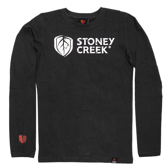Stoney Creek BBQ T-Shirt Long sleeve - Black