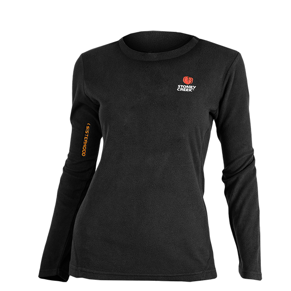 Stoney Creek Women's Long Sleeve Bush Tee - Black