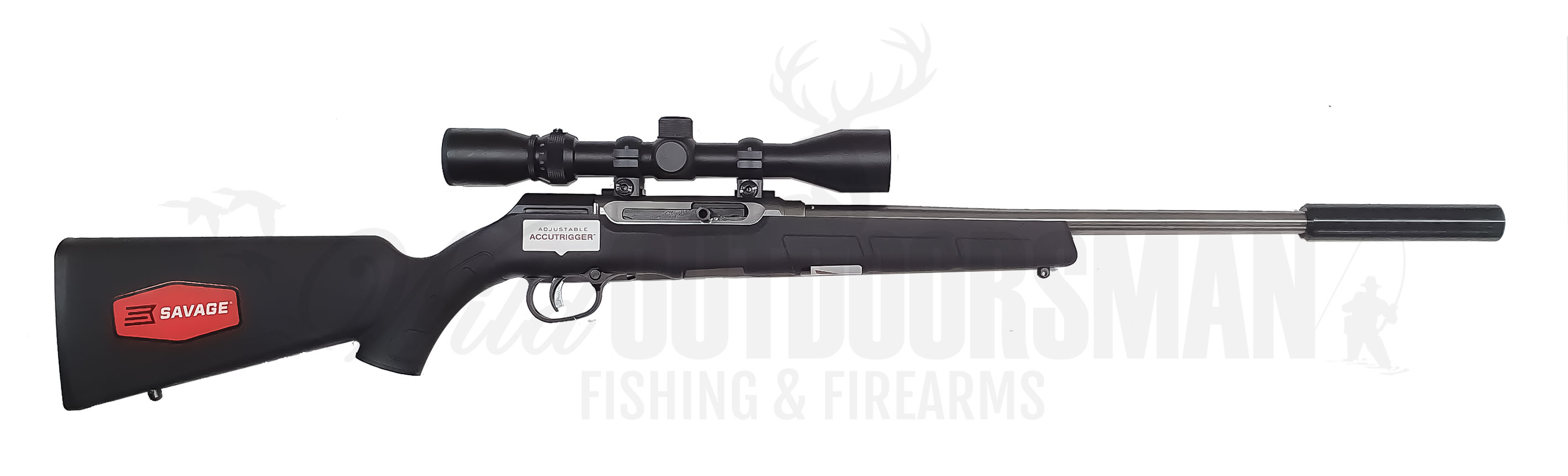 Savage A22 FSS XP-SR 22LR Stainless Synthetic Package